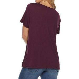 NWT SO Lace-Up Tee